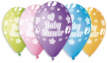 "Baby Shower Balloons 12"" Dia x 10 pieces"
