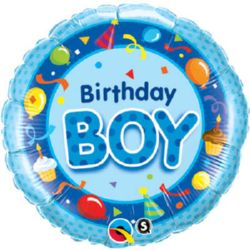 Birthday Boy foil balloon from qualatex