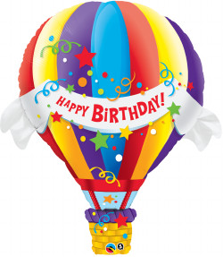 Birthday Hot Air Foil Balloon