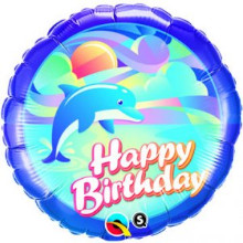 Birthday Jumping Dolphin foil balloon from qualatex