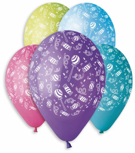 "Candy Theme Party Balloons 12"" Dia x 10 pieces"