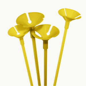 Cup and Stick for balloons Yellow Pack of 100