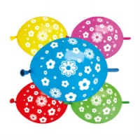"Daisy Flower Link Balloons 12"" Assorted x 1 piece"