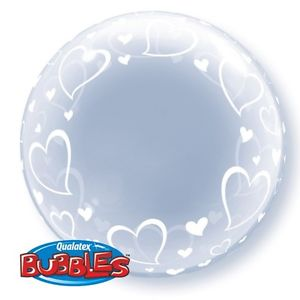 "Deco Bubble 24"" Stylish Hearts"