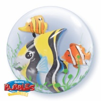 "Pack of 1 x 24"" Double Bubble Tropical Fish"