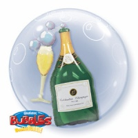 "Pack of 1 x 24"" Double Bubble Wine Bottle/ Glass"