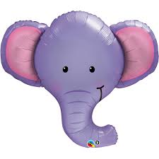 Ellie the Elephant Foil Balloon x 1 piece
