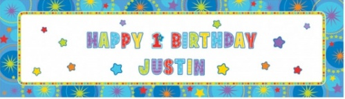 Personalised Giant Sign Banner: 1 st Birthday Boy