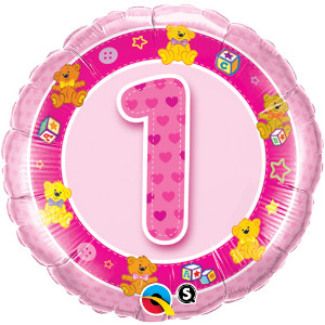 first birthday girl foil balloon from qualatex