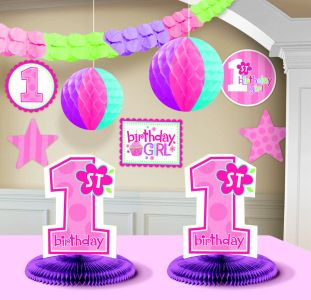 1 st Birthday Girl Decorating Kit