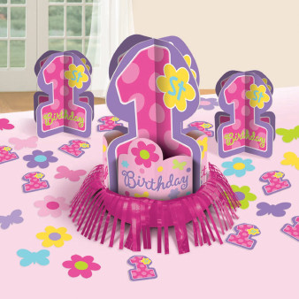 First Birthday Girl Table Decorating Kit