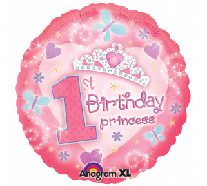 First Birthday Princess Foil Balloon from anagram