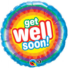 Get Well Soon qualatex foil balloon