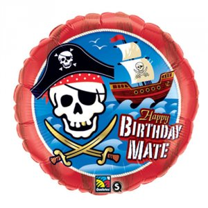 birthday pirate party foil balloon from qualatex