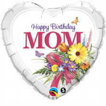 Happy Birthday Mom foil balloon from qualatex