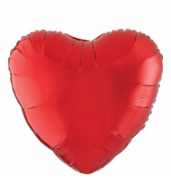 "Hearts Foil Balloon 18"" Red x 1 piece"