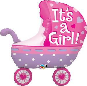 It's a Girl Baby Stroller Foil Balloon