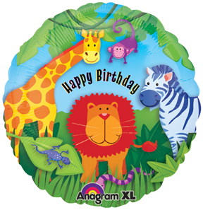 Jungle Animals party Birthday Foil Balloon from anagram
