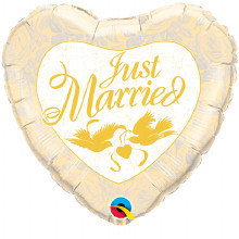 Just Married wedding balloon from qualatex