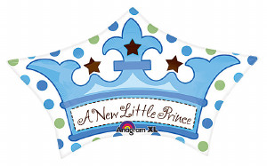 Little Prince Crown Foil Balloon from anagram