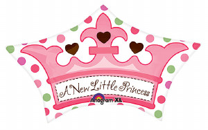 Little Princess Crown Foil Balloon from anagram