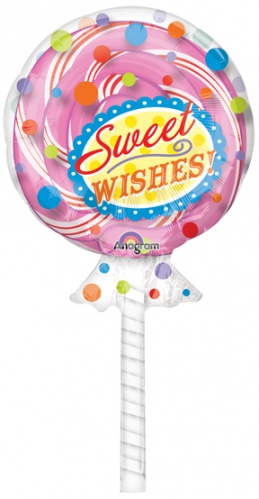 candy party lollipop super shape anagram foil balloon