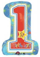 One-derful Birthday Boy foil balloon Super Shape x 1 piece