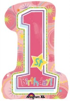 One-derful Birthday Girl Super shape foil balloon x 1 piece