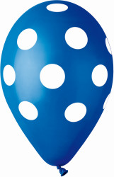 Polka Dot Balloons Dark Blue