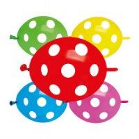 "Polka Dot Link Balloons 12"" Assorted x 1 piece"