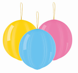 Punch Ball balloons Pastel