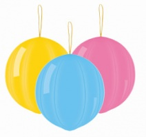 Punch Ball Balloons in Assorted Pastel Colours x 3 pieces