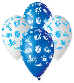 Sea Creatures Printed Balloons