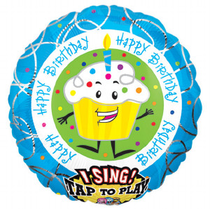 Singing happy birthday cup cake Foil Balloon from anagram
