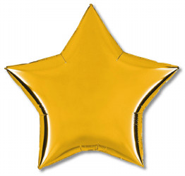 "Star Foil Balloon Gold 18""  x 1 piece"