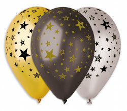 "Stars Printed Balloons 12"" Dia x 10 pieces"