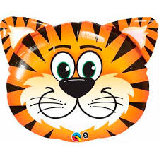 Tickled Tiger Foil Balloon x 1 piece