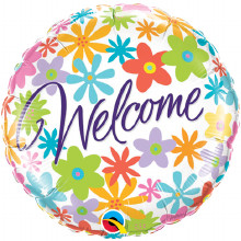 welcome foil balloon from qualatex