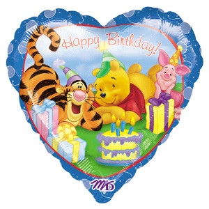 winnie the pooh birthday foil balloon from anagram