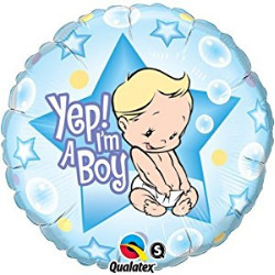 Yep, I am a Boy Foil balloon
